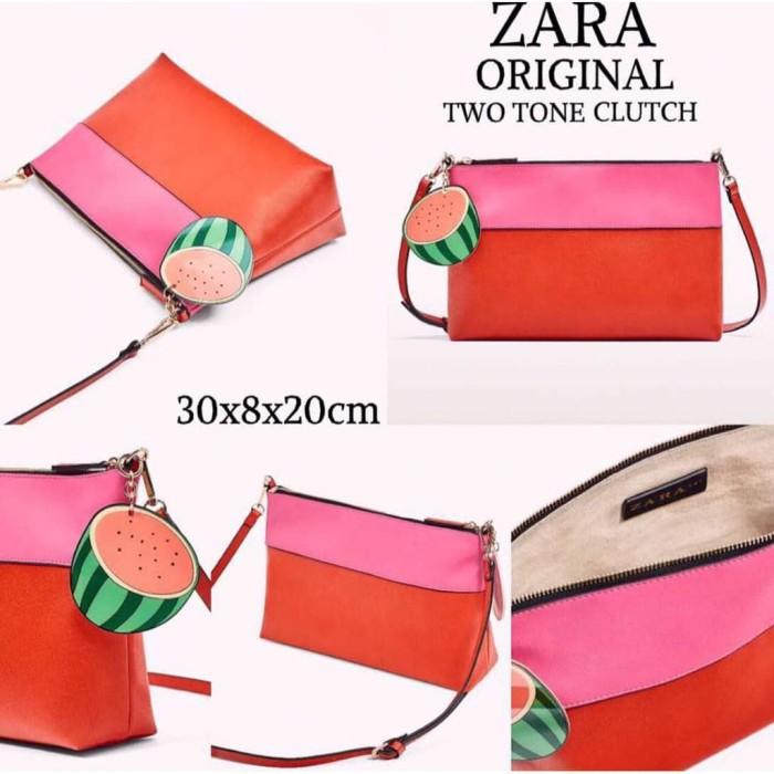 Foto Produk Tas Wanita Zara Fashion Two Tone Clutch Fruit Tas Selembang dari GORZA SHOP