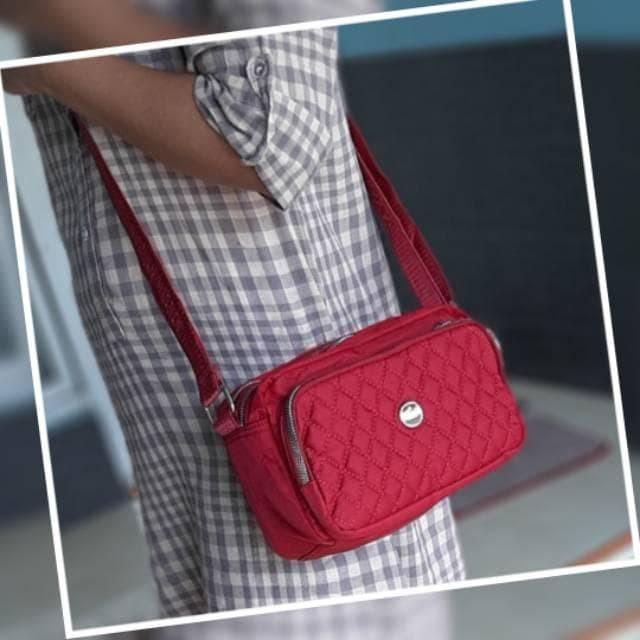 Foto Produk Cb364 Tas Selempang Wanita Import Chibao Bordir 5slet dari GORZA SHOP