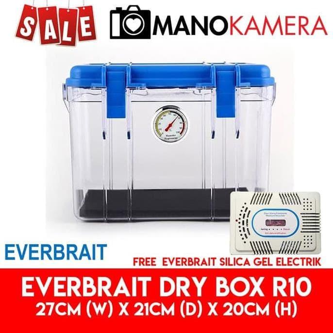 Foto Produk Everbrait Dry Box R10 Drybox ABS Free Silica Gel Elektrik Untuk Kamera dari Ranimawarstore