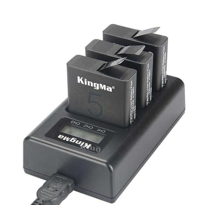 Foto Produk Kingma Charger Baterai 3 Slot GoPro Hero 5 - AHDBT-501 dari Farlanputra_09