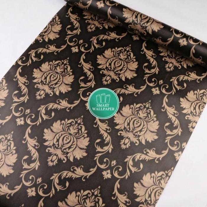 Foto Produk WALPAPER RUANGAN Batik Hitam Luxury / Wallpaper 45cm x 10m dari TONG MESER
