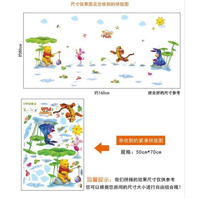 Foto Produk WALPAPER RUANGAN METH AM7020 AY7058 POOH RAIN RIVER WAL STIKER DINDING dari TONG MESER