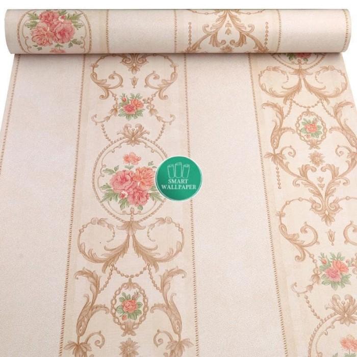 Foto Produk WALPAPER RUANGAN Bunga Batik / Wallpaper 45cm x 10m dari TONG MESER