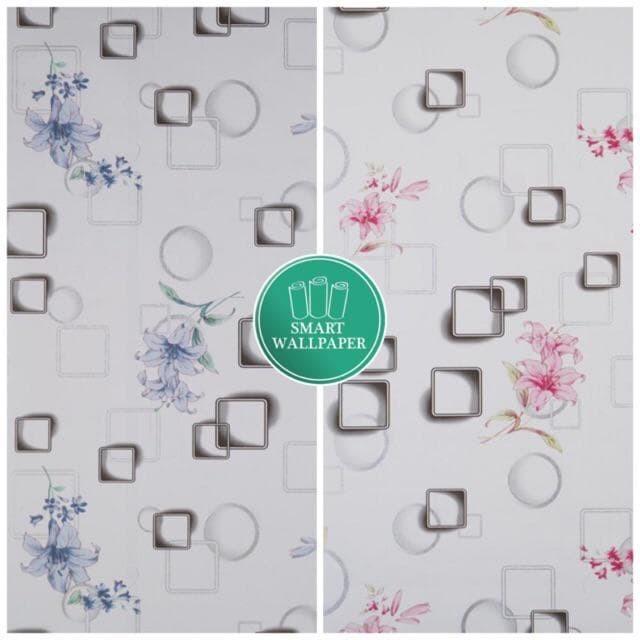Foto Produk WALPAPER RUANGAN 3D Flower & Box | Wallpaper 45cm x 10m dari TONG MESER