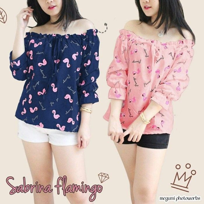 Foto Produk TFS SABRINA FLAMINGO BAHAN TWISCONE FIT TO L dari -SUPER STORE-
