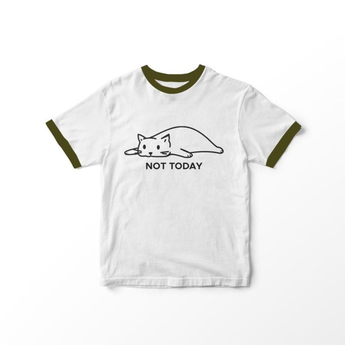 Foto Produk BAJU KAOS RINGER PATCH NOT TODAY POLOS LINE WARNA CEWEK COTTON T-SHIRT dari -SUPER STORE-