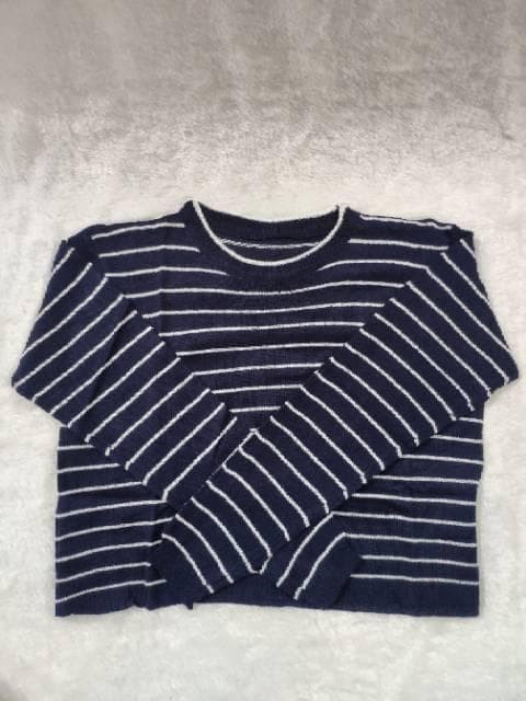 Foto Produk Crop Stripe Rajut | Crop Rajut | Sweater Rajut dari -SUPER STORE-
