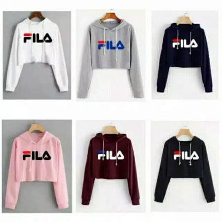 Foto Produk Celline - CROP SWEATER FILA HODIE dari -SUPER STORE-