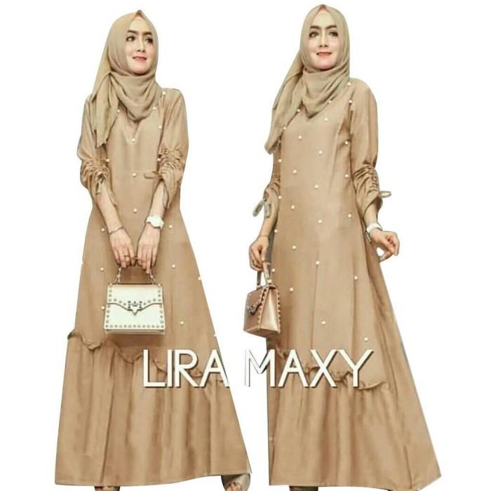 Foto Produk HOPYLOVY - MAXI DRESS MUSLIM MUTIARA LIRA FIT TO XL (LD 100, PB 130) dari -SUPER STORE-