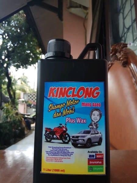 Foto Produk shampo+wax mobil/motor kinclong snow wash 1 liter dari smileceria