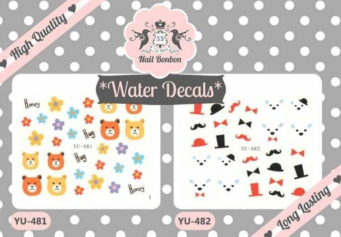 Foto Produk Water Decals Cute Animals Series, Nail decals, decal Kuku Hewan Lucu dari Adeliostore2