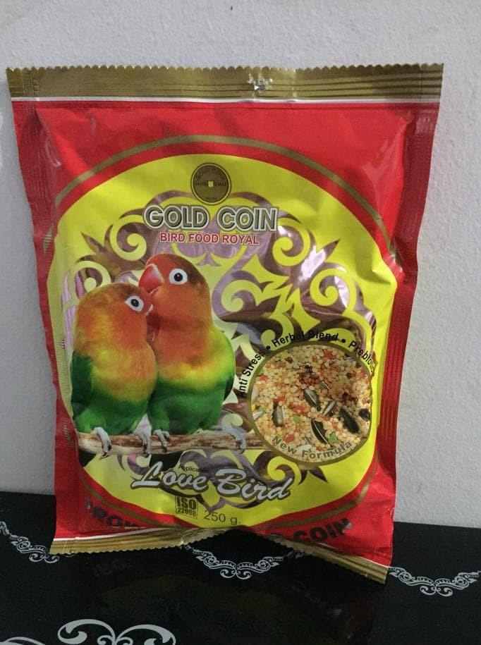 Jual Gold Coin Lovebird Pakan Burung Khusus Lovebird Makanan