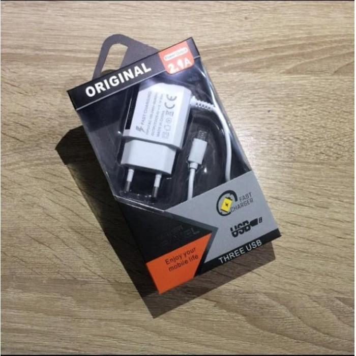 Foto Produk CHARGER CASAN SAMSUNG DUAL USB NEW LED 2.1A REMAX EDITION dari JV ACC