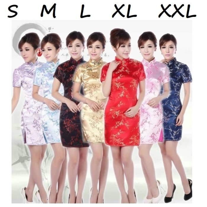 Foto Produk Cheongsam Ceongsam Zhong San Pink Klasik Vintage Imlek sincia imlek - S dari franzpetteson