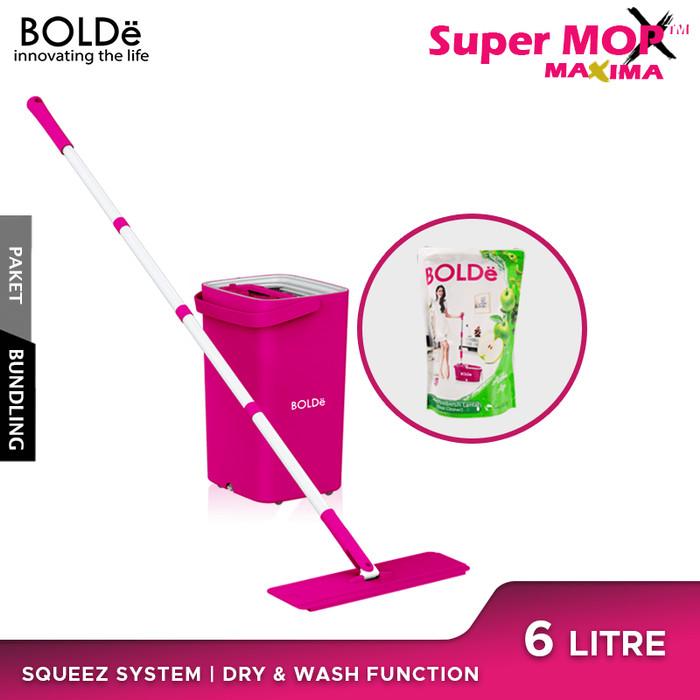 Foto Produk BOLDe Super Mop Maxima & BOLDe Sabun Pembersih Lantai - Magenta dari BOLDe Official Store