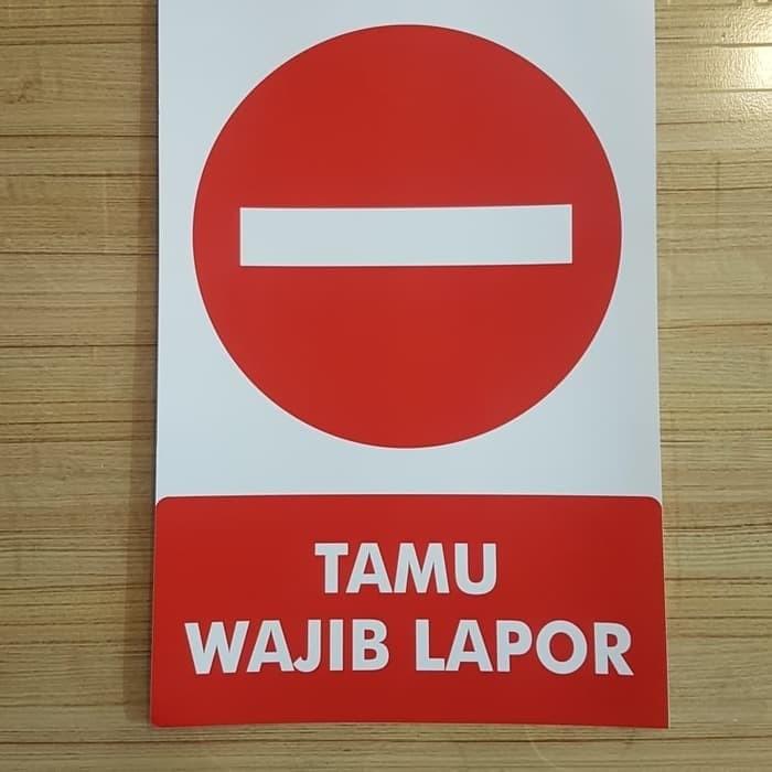 Jual Tamu Wajib Lapor 30x20cm Sticker Sign Rambu K3 Larangan Masuk Stiker Jakarta Barat Persada Global Safety Tokopedia