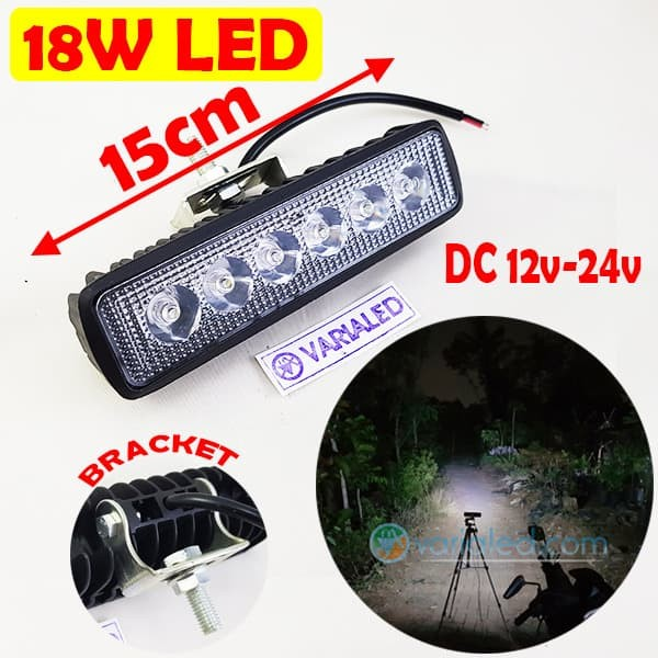 harga 18w led bar offroad drl off road work light mobil motor 6x3w 10-30v Tokopedia.com