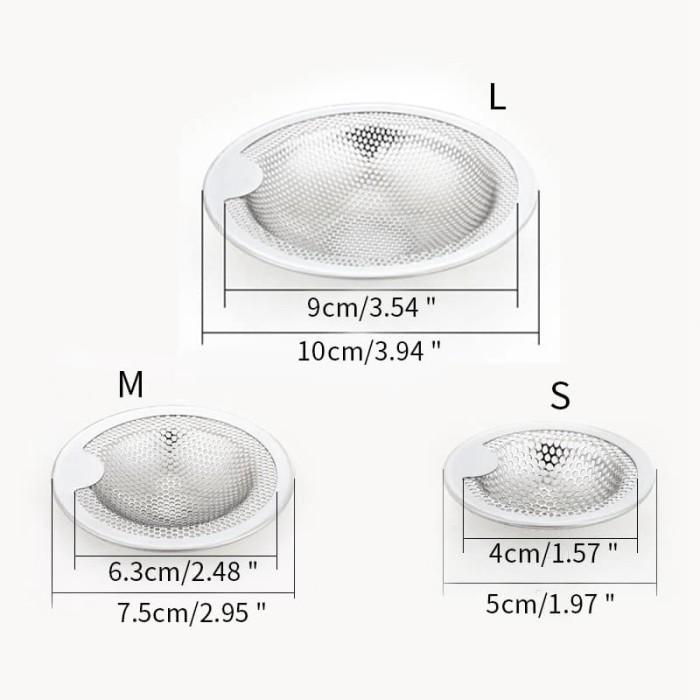 Foto Produk (Large) Saringan wastafel dapur stainless steel filter sink stainer dari Zerda Store