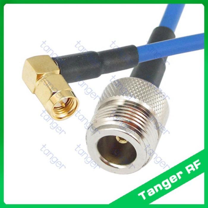 SMA male to RP-SMA female RF lot RG402 Semi Flexible blue jacket jumper Cable