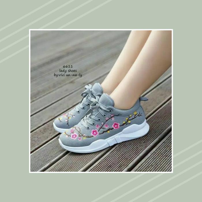 Jual Sepatu Sneakers Wanita Brodir Bunga Sangat Cantik Hitam 39 Kota Bogor Ratihnurdianti Tokopedia