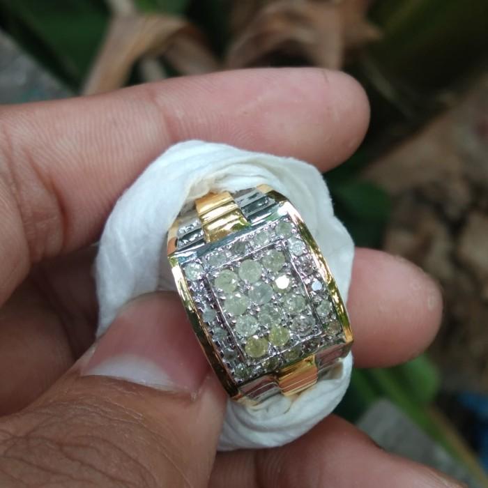 Jual Cincin Perak Pria Hand Made Full Berlian Erofa Model Rolex