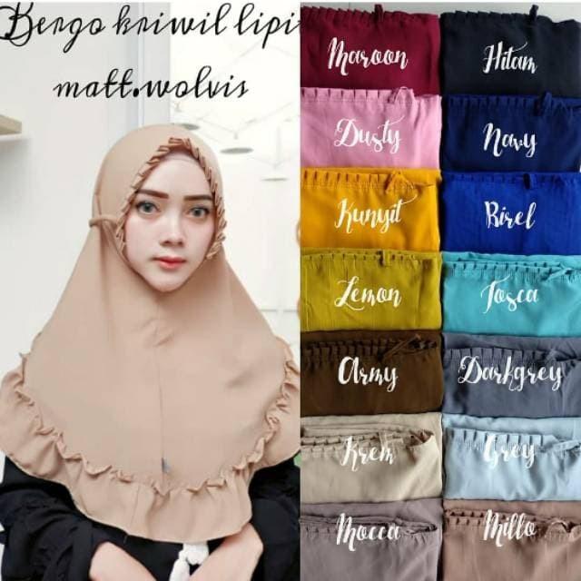 Jual Bergo Kriwil Lipit Kab Cirebon Hijab Instans Tokopedia