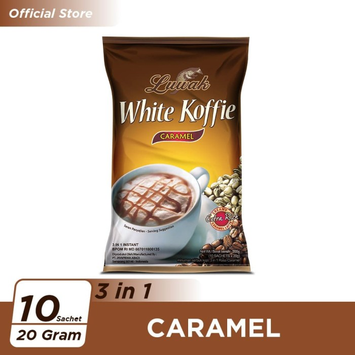 Foto Produk Kopi Luwak White Koffie Caramel Bag 10x20gr dari Kopi Luwak Official