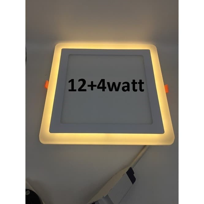 Foto Produk Downlight Panel Led 2 Warna Segi Inbouw 12 watt Putih & 4 watt Kuning dari mysmiley
