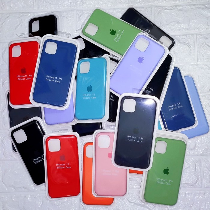 Foto Produk Silicone Case Full Cover Iphone 11 11 Pro 11 Pro Max Anti Noda dari Clevoekz Gadget