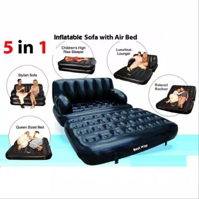Jual Bestway Sofa Bed 5 In 1 Hitam