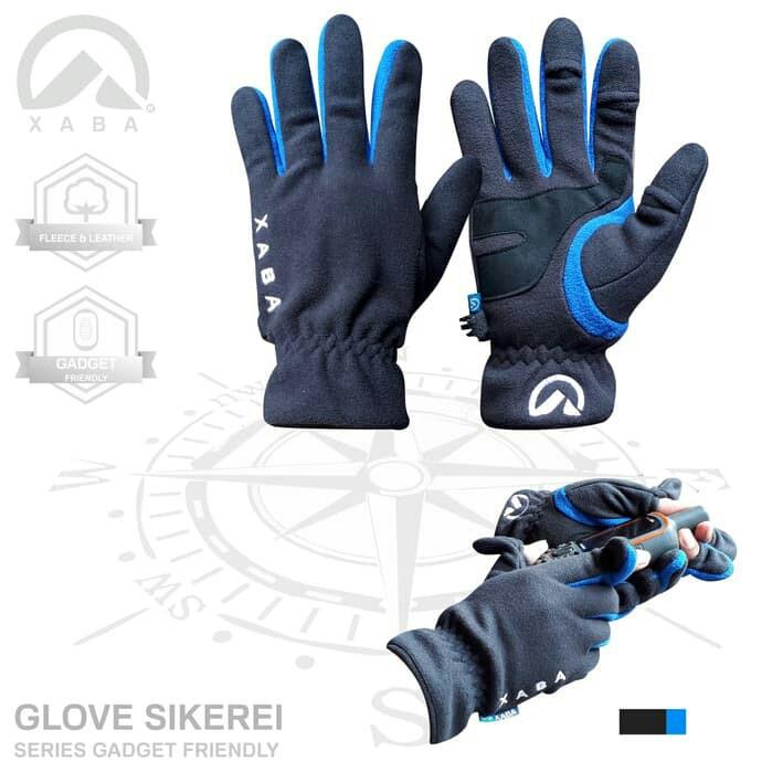 Foto Produk BEST SELLER - sarung tangan gunung ski lapangan outdoor xaba - Biru dari XABA