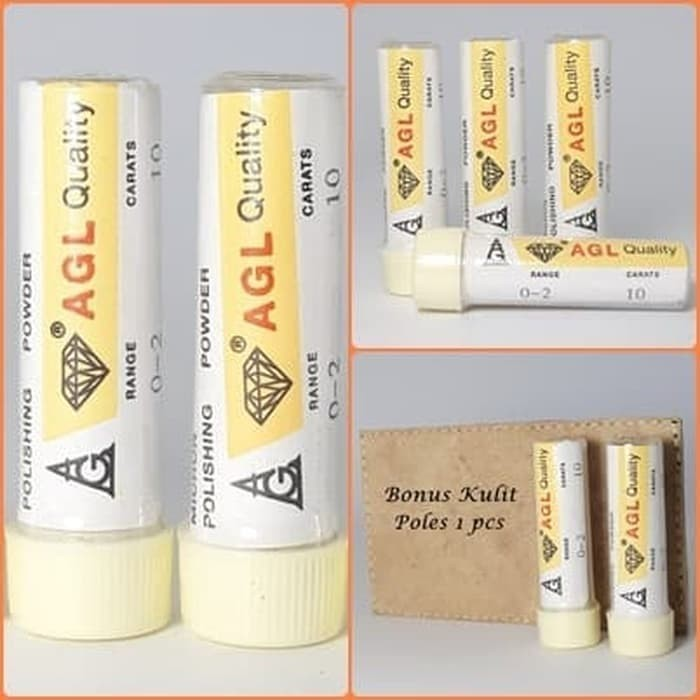 Foto Produk Serbuk Intan AGL Bonus Kulit Poles Batu dari Central Grosir Gemstone