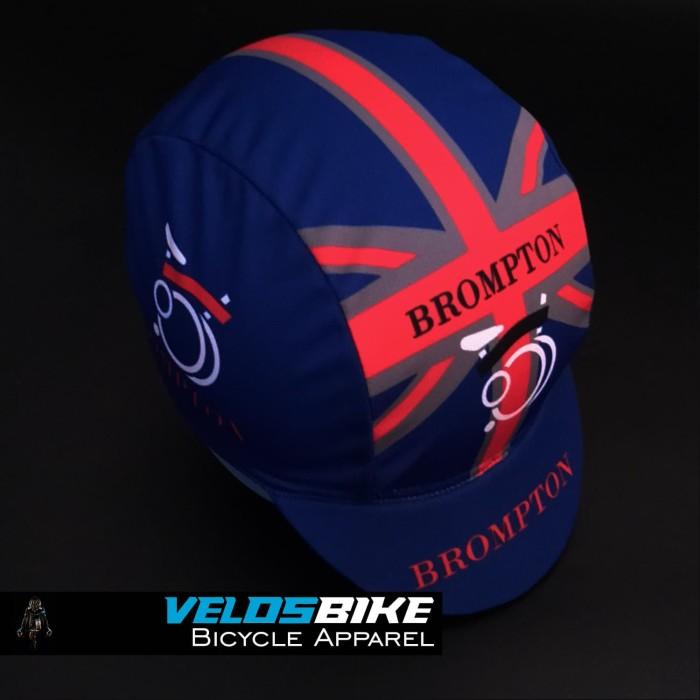 Jual Topi sepeda cycling cap BROMPTON biru Kota Semarang