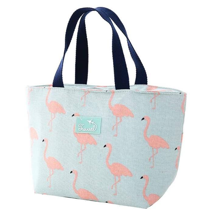 Foto Produk 013 insulated lunch bag cooler bag tas bekal kotak makan rantang lucu - A FLAMINGO dari VAPOR LAB