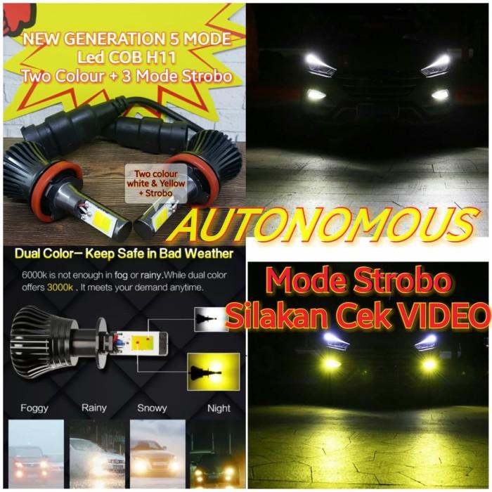 Foto Produk Lampu led h11 h8 h16 foglamp mobil dua warna / two colour 2 warna dari AUTONOMOUS