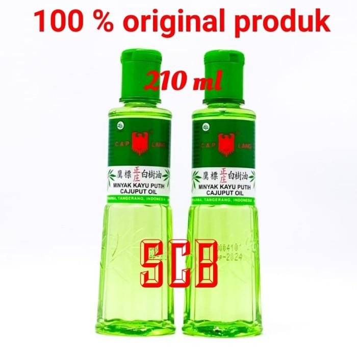 Foto Produk Minyak Kayu Putih Cap Lang (Besar) / Cajuput Oil 210ml dari Toko Obat SCB