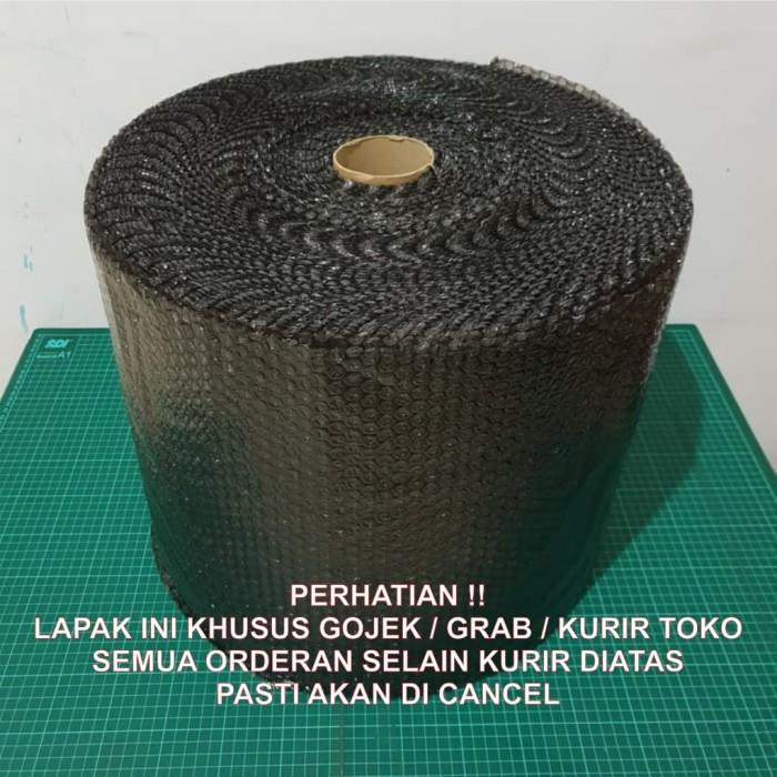 Foto Produk [KHUSUS GOJEK / GRAB] Bubble Wrap 50m x 40cm BLACK (HITAM) dari KiosCepat