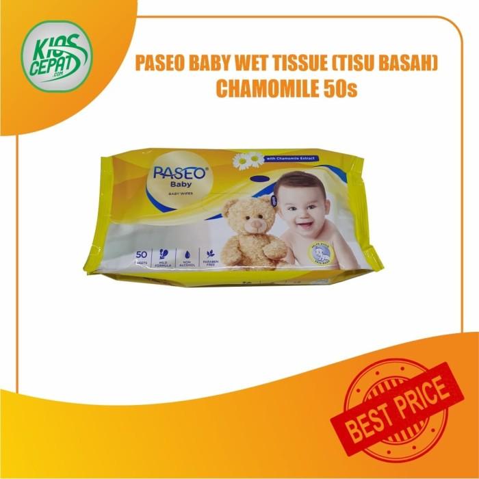 Foto Produk Tissue PASEO Baby Wet Tissue Chamomile 50s (TISU BASAH) dari KiosCepat