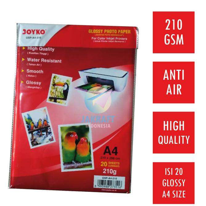 Foto Produk Kertas Foto / Glossy Photo Paper Joyko Tebal 210 Gr Gsm Gram dari ATK Makmur Sejahtera