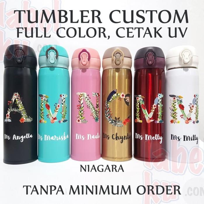 Foto Produk Tumbler Promosi Custom Logo, Tanpa Minimum Order, Full Warna, Niagara - Putih dari Labelku