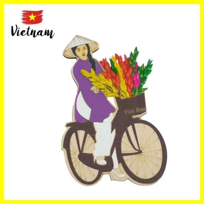 Foto Produk Souvenir Mancanegara Magnet Tempelan Kulkas Vietnam Sepeda B Ungu dari Iyesh Online Store