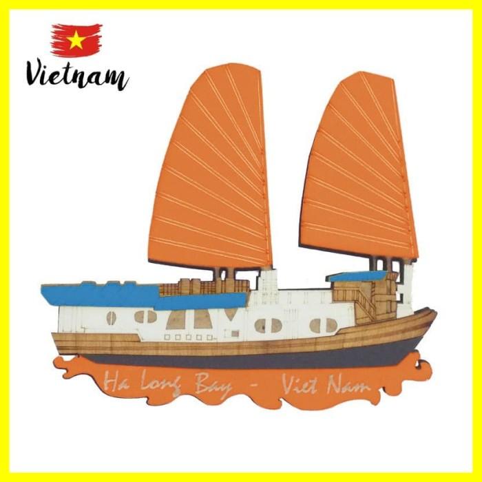 Foto Produk Souvenir Mancanegara Magnet Tempelan Kulkas Vietnam Ha Long Bay Orange dari Iyesh Online Store