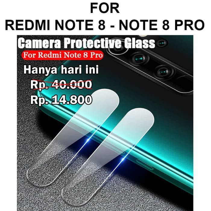 Foto Produk Tempered Glass Xiaomi Redmi Note 8 - Note 8 Pro anti gores hp CAMERA - Note 8 Pro dari Case Pedia