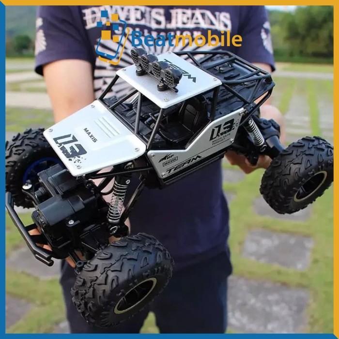 Foto Produk RC Car Mobil Rc Rock Crawler 1:18 Off Road 2.4GHz 4WD - SILVER dari beatmobile