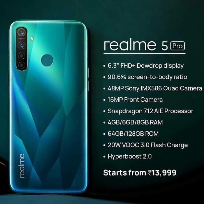 Jual Realme 5 Pro Ram 4gb Rom 128gb Garansi Resmi Kota Surabaya Melatiindah Tokopedia