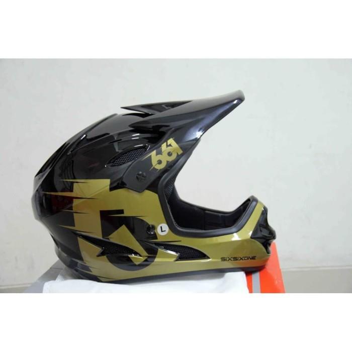 Foto Produk Helmet 661 Comp Gold Black Six Six One Helm Full Face DH Trail dari TRB BIKE