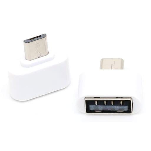 Foto Produk Mini OTG Adapter Micro USB ke USB Female - V8 – White 0015 dari baterai android mod