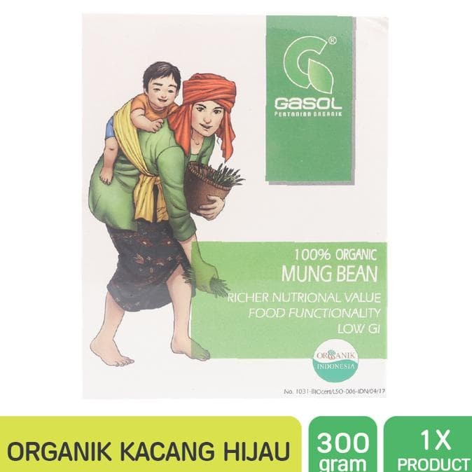 Jual Hot Sale Gasol Organik Kacang Hijau Butir 300gr Makanan Bayi Jakarta Barat Nasibriyanto Tokopedia