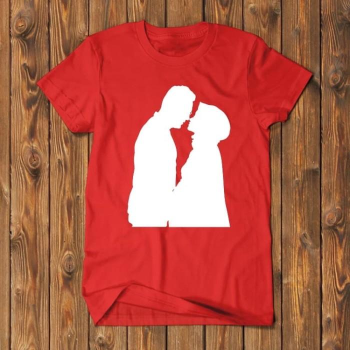 Foto Produk Lukisan Karikatur Wajah Siluet Plakat Couple GAB-SIL01 dari Supplier Kaos Custom