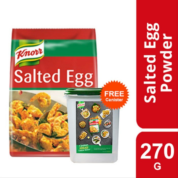 Foto Produk Knorr Golden Salted Egg Powder Pouch 270g free canister dari Unilever Food Solution